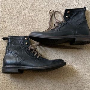 UGG for men black combat boots.